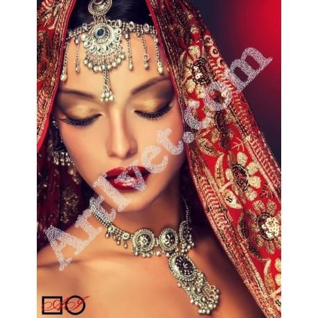 Наличен Диамантен гоблен КРАСАВИЦА ОТ ИЗТОКА: Размер и Вид - Кръгли диаманти 32х24