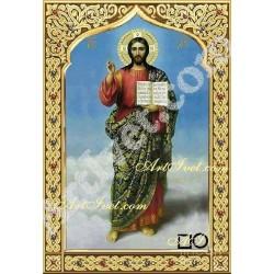 Наличен Диамантен гоблен ИСУС ХРИСТОС - СВЕТЛИ ДА СА ДНИТЕ ВИ: Размер и Вид - Квадратни диаманти 35х25
