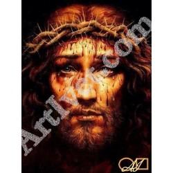 Наличен Диамантен гоблен ИСУСОВА КРЪВ: Размер и Вид - Квадратни диаманти 32х24