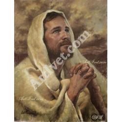 Наличен Диамантен гоблен МОЛИТВАТА НА ИСУС: Размер и Вид - Квадратни диаманти 39х30